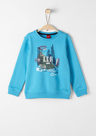 Sweatshirt pulover z natisnjenim motivom Londona