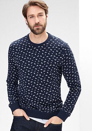 Sweatshirt pulover z natisnjenim origami vzorcem
