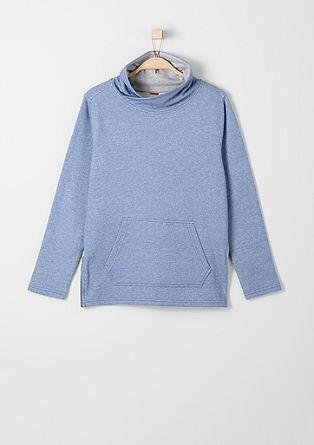 Sweatshirt pulover z natisnjenim sporočilom na hrbtu