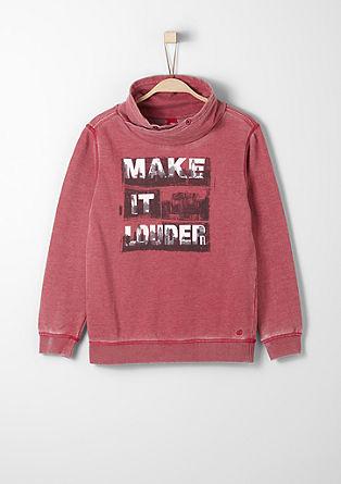 Sweatshirt pulover z natisnjenim sporočilom