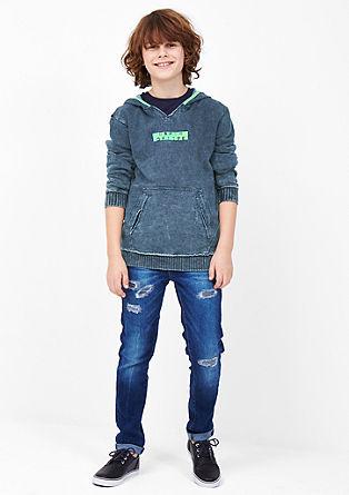 Sweatshirt pulover z neonskimi poudarki