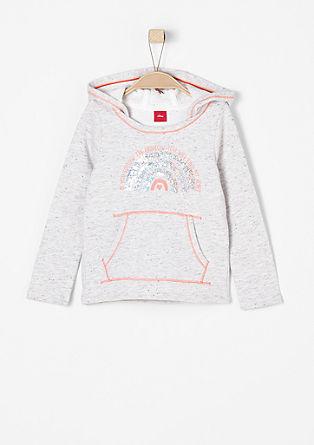 Sweatshirt pulover z obojestranskimi bleščicami