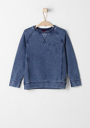 Sweatshirt pulover z učinkom barvnega pranja