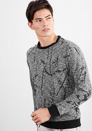 Sweatshirt pulover z umetniškim potiskom