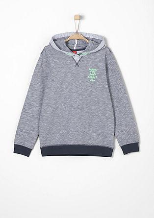 Sweatshirt pulover z vezenim napisom