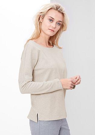 Sweatshirt pulover z všitki
