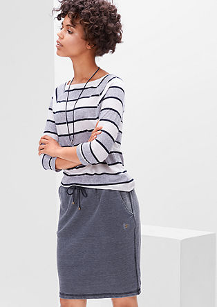 Sweatshirt skirt in a garment-washed finish from s.Oliver