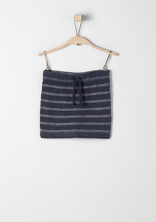 Sweatshirt skirt with glitter stripes from s.Oliver