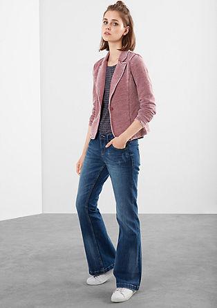 Sweatshirt suknjič v izvedbi Garment Dye