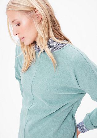Sweatshirt van een zachte katoenmix