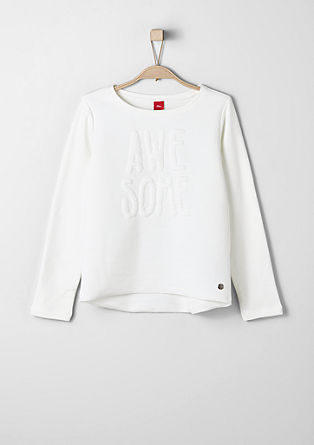 Sweatshirt with a 3-D effect from s.Oliver