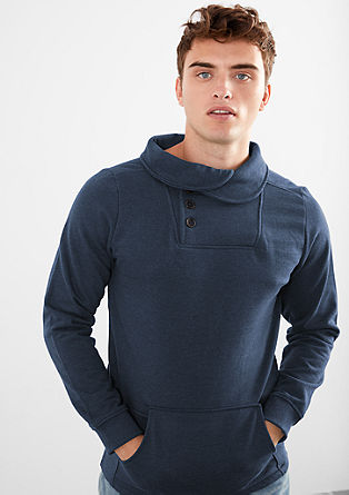 Sweatshirt with a collar from s.Oliver