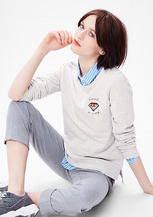 Sweatshirt with a diamond patch from s.Oliver