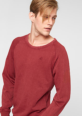 Sweatshirt with a garment-washed effect from s.Oliver