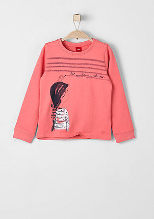 Sweatshirt with a glitter print from s.Oliver