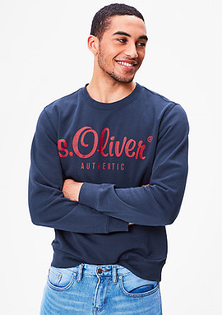 Sweatshirt with a logo print from s.Oliver