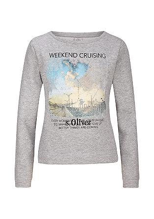 Sweatshirt with a photo print from s.Oliver