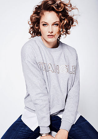 Sweatshirt with a printed logo from s.Oliver