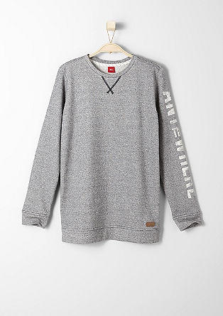 Sweatshirt with a printed sleeve from s.Oliver