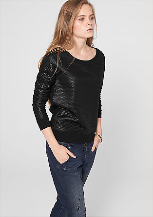 Sweatshirt with a quilted pattern from s.Oliver
