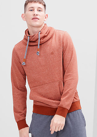 Sweatshirt with a shawl collar from s.Oliver