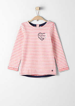 Sweatshirt with a striped pattern from s.Oliver