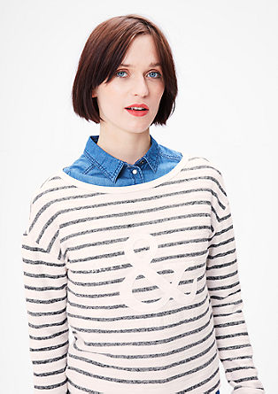 Sweatshirt with a towelling finish from s.Oliver