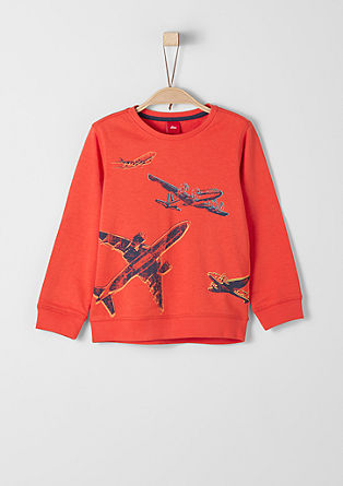 Sweatshirt with aeroplane motifs from s.Oliver