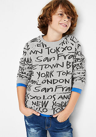 Sweatshirt with city names from s.Oliver