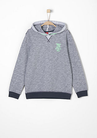 Sweatshirt with embroidered lettering from s.Oliver