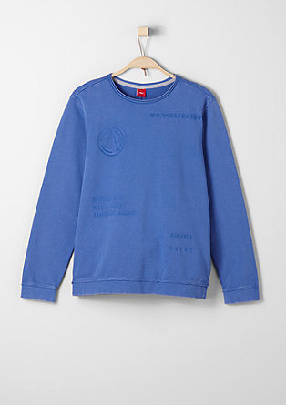 Sweatshirt with inside-out print from s.Oliver