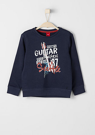 sweatshirt with rocker print from s.Oliver