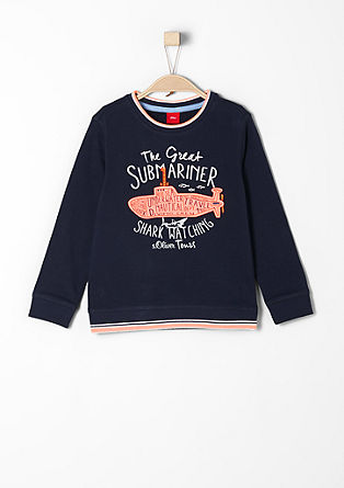 Sweatshirt with submarine appliqué from s.Oliver