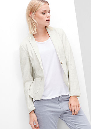 Sweatvest met de look van een blazer