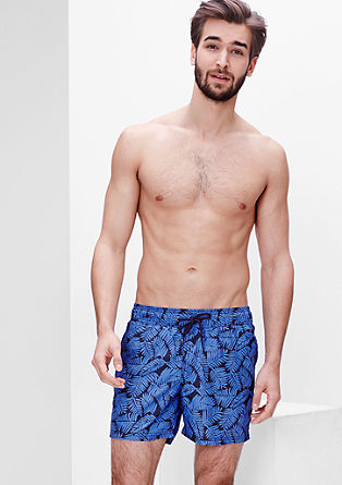 Swim shorts with a palm tree print from s.Oliver