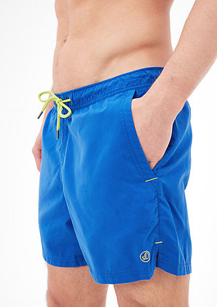 Swim shorts with contrasting ties from s.Oliver