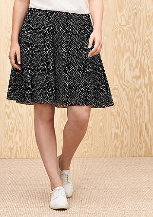 Swirling skirt with polka dots from s.Oliver