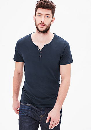 T-shirt in a Henley style from s.Oliver