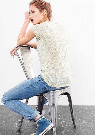 T-shirt in a melange design from s.Oliver