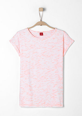 T-shirt in a mottled look from s.Oliver