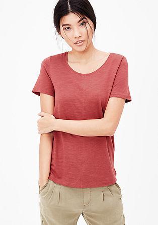 T-Shirt in Slub Yarn