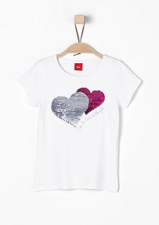 T-shirt met 2-zijdige pailletjes