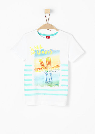 T-shirt met bonte print