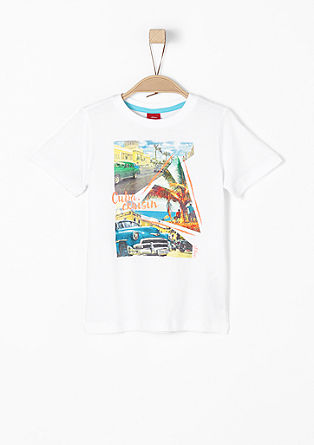 T-shirt met Cuba-print