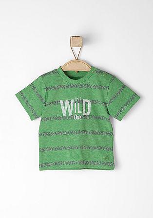 T-shirt met een flockprint