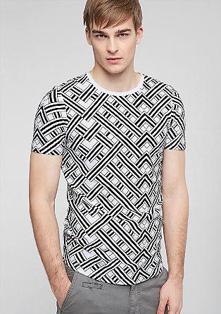 T-shirt met een print all-over