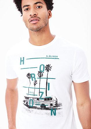 T-shirt met een zomerse print