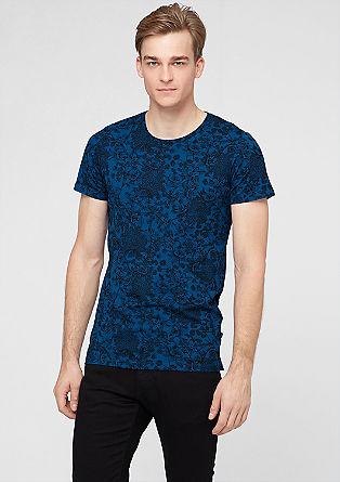 T-shirt met florale print