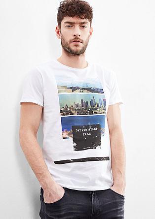 T-shirt met grote print op de voorkant