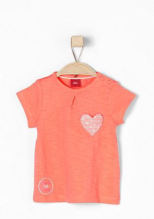 T-shirt met hartvormige applicatie
